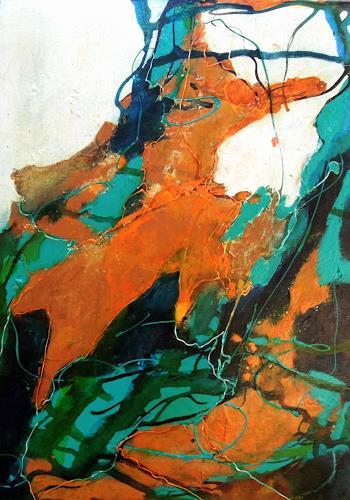Ursula Venosta, Mundo magico III, Nature, Abstract Expressionism
