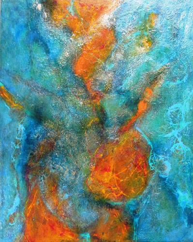 Ursula Venosta, Inspiration von oben l, Abstract art, Abstract Expressionism
