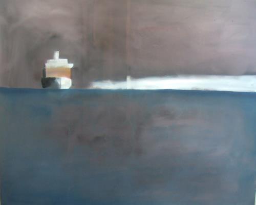 Klaus Behncke, Nach einer langen Reise, Landscapes: Sea/Ocean, Verkehr: Ship, Contemporary Art, Expressionism