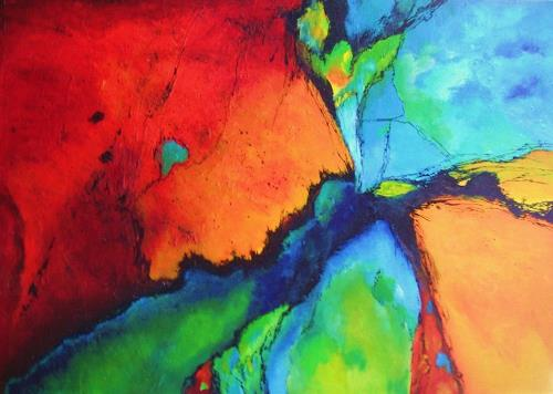 ingeborg zinn, why so, Abstract art, Fantasy, Abstract Art
