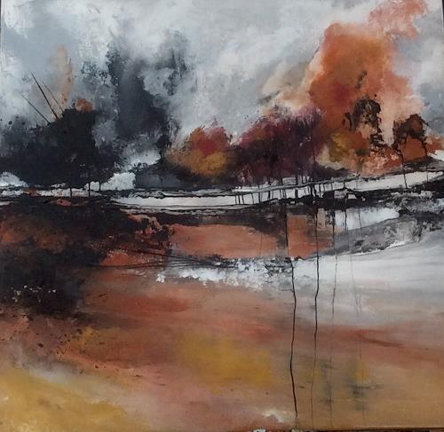 ingeborg zinn, Bevor es still wird, Landscapes: Autumn, Miscellaneous Landscapes, Abstract Expressionism