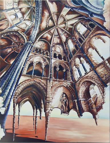Ute Bescht, Portrait of my Love, Buildings: Churches, Emotions: Love, Expressive Realism, Abstract Expressionism