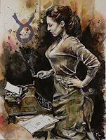 Ute-Bescht-People-Women-People-Portraits-Modern-Age-Expressive-Realism