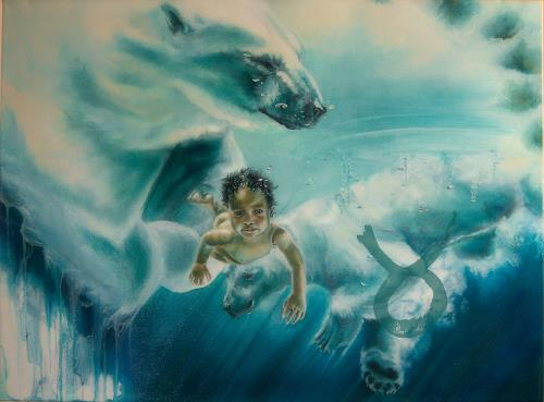 Ute Bescht, ICEbirth, People: Children, Nature: Water, Hyperrealism, Abstract Expressionism