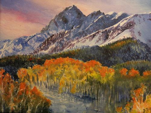 Daniela Böker, Blue Fall, Landscapes: Mountains, Landscapes: Autumn, Naturalism