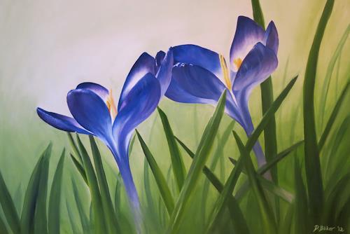 Daniela Böker, Frühlingsboten, Plants: Flowers, Landscapes: Spring, Naturalism