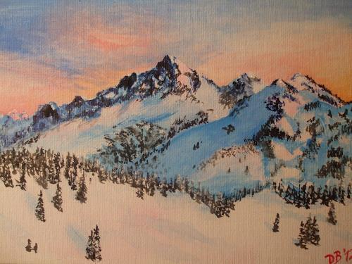 Daniela Böker, Tattosh Range From Mt Rainier, Landscapes: Mountains, Landscapes: Winter, Naturalism