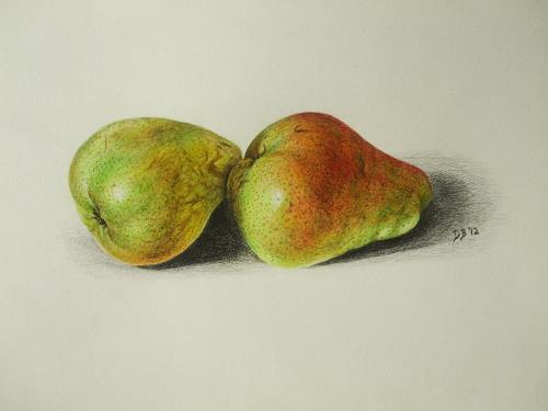 Daniela Böker, Birnenmahl - eine Birnenstudie, Plants: Fruits, Meal, Naturalism, Expressionism
