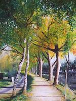 Daniela-Boeker-Landscapes-Autumn-Plants-Trees-Modern-Age-Naturalism
