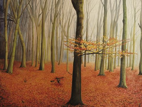 Daniela Böker, the last ones..., Nature: Wood, Landscapes: Autumn, Realism, Expressionism