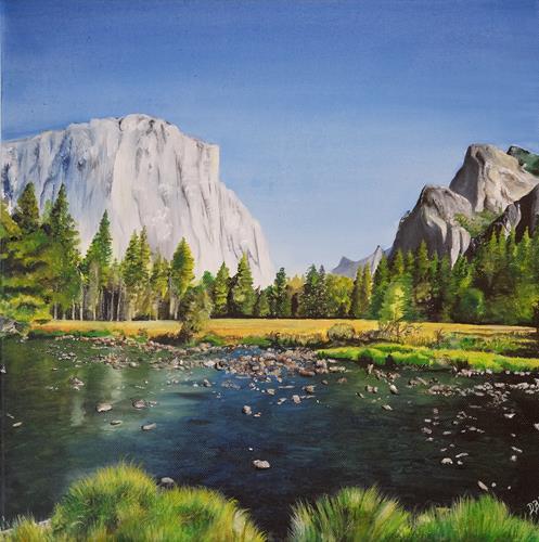 Daniela Böker, Yosemite National Park, Landscapes: Mountains, Nature: Water, Naturalism