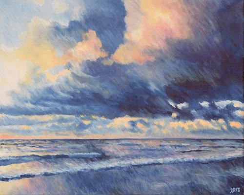Daniela Böker, N/T, Landscapes: Sea/Ocean, Nature: Water, Impressionism
