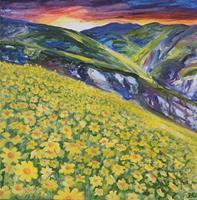 Daniela-Boeker-Landscapes-Mountains-Plants-Flowers-Modern-Age-Expressive-Realism
