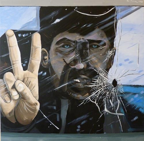 Elmar Karla, Glueck und Glaube, Society, War, Contemporary Art, Abstract Expressionism