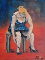 Ellen-Fasthuber-Huemer-People-Women-Modern-Age-Impressionism-Post-Impressionism