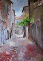 Ellen-Fasthuber-Huemer-Landscapes-Summer-Architecture-Modern-Age-Impressionism-Post-Impressionism