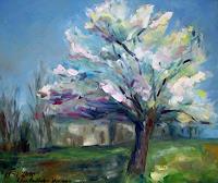Ellen-Fasthuber-Huemer-Plants-Trees-Plants-Trees-Modern-Age-Impressionism-Post-Impressionism