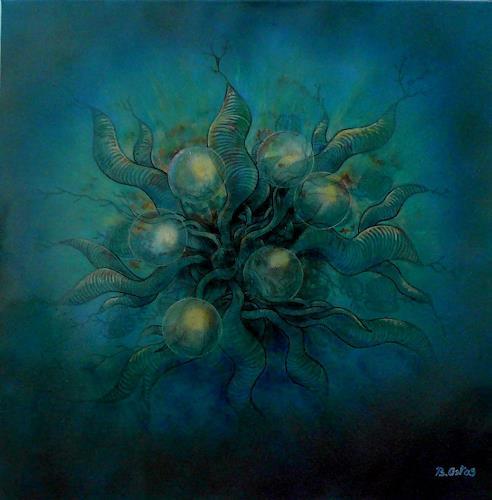 Bernhard Ost, Alraunentraum, Fantasy, Contemporary Art, Expressionism