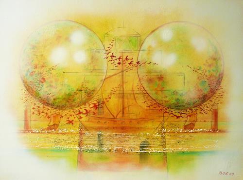 Bernhard Ost, Fernweh, Abstract art, Fantasy, Contemporary Art