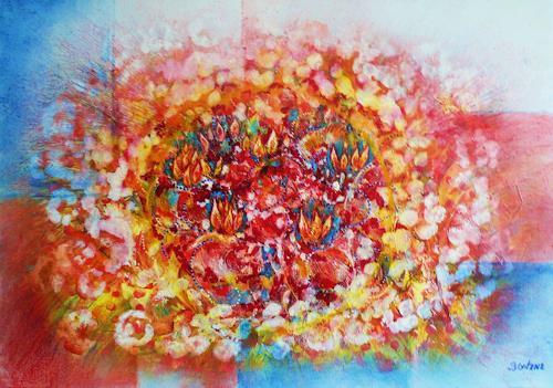 Bernhard Ost, Meteorit der Liebe, Abstract art, Contemporary Art