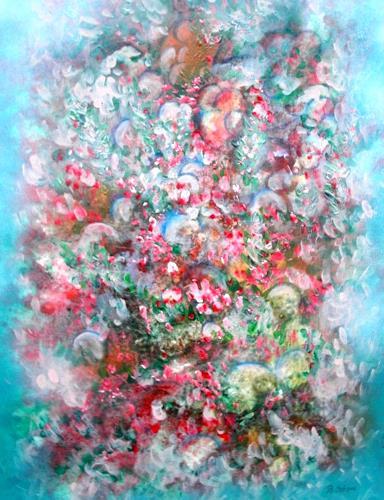 Bernhard Ost, Sinnliches Blütenfeld, Abstract art, Contemporary Art