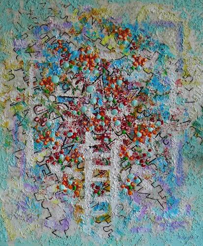 Bernhard Ost, Viele Wege führen zum Ziel, Abstract art, Contemporary Art