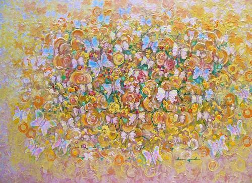 Bernhard Ost, Blütenfest der Schmetterlinge, Miscellaneous, Contemporary Art