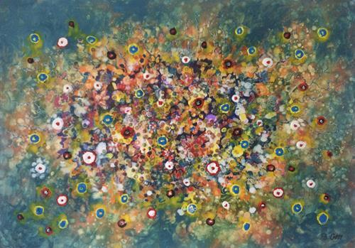 Bernhard Ost, Blütenbeben, Abstract art, Contemporary Art, Expressionism