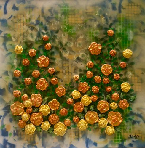 Bernhard Ost, Gelbe Rosen, Romantic motifs, Miscellaneous, Modern Age