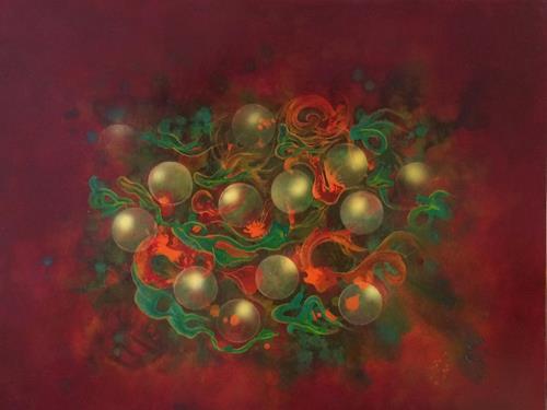 Bernhard Ost, Ein perlender Liebestraum, Abstract art, Contemporary Art