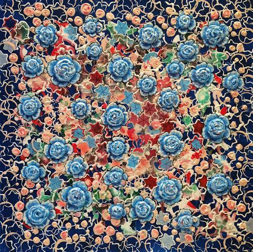 Bernhard Ost, Blütensterne, Fantasy, Symbol, Modern Age, Expressionism