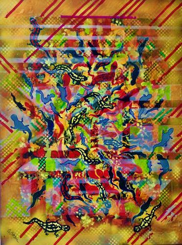 Bernhard Ost, Tanz der Eidechsen, Animals, Modern Age