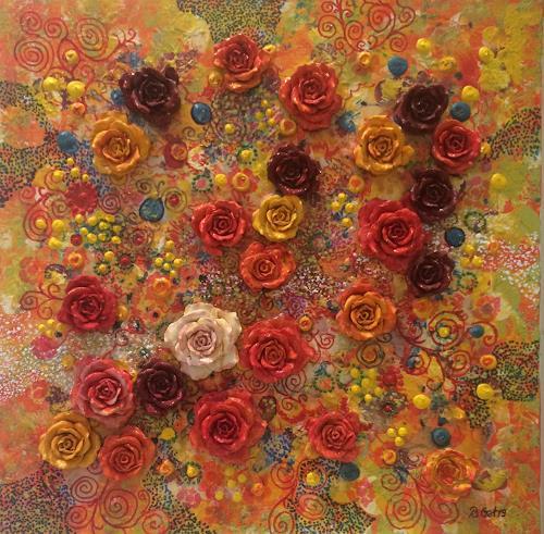 Bernhard Ost, Sommer, Abstract art, Plants: Flowers, Contemporary Art