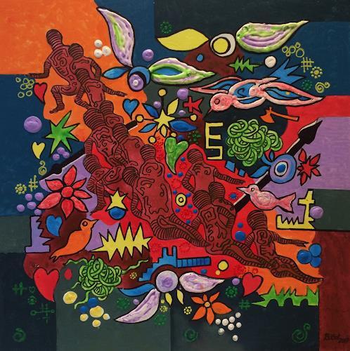 Bernhard Ost, Die Suchenden, Fantasy, Miscellaneous Emotions, Modern Age, Expressionism