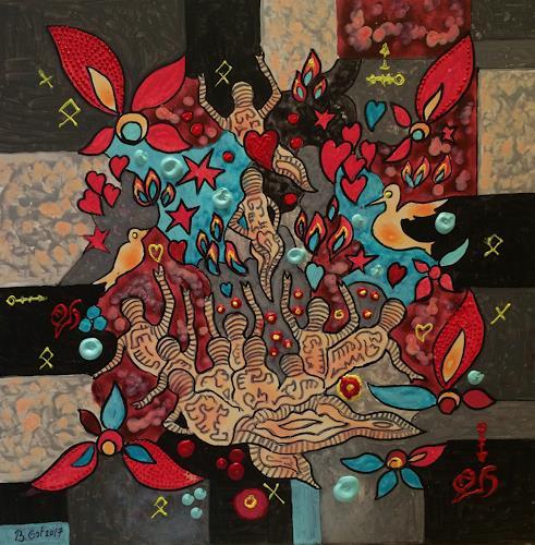 Bernhard Ost, Loslassen, Emotions, Mythology, Contemporary Art, Expressionism