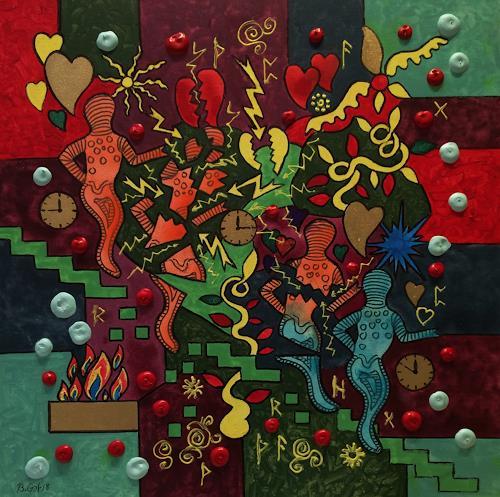 Bernhard Ost, Nichts bleibt wie es ist, Fantasy, Miscellaneous, Contemporary Art, Expressionism