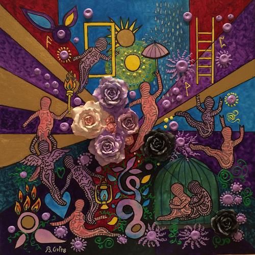 Bernhard Ost, Das Licht der Seele, Mythology, Emotions: Joy, Contemporary Art, Expressionism