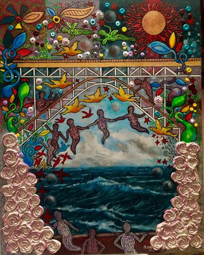 Bernhard Ost, Brücke der Unendlichkeit, Fantasy, Emotions, Contemporary Art, Expressionism
