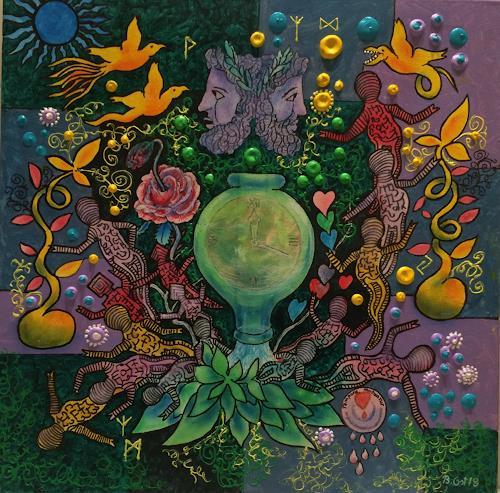 Bernhard Ost, Tempora mutantur, Mythology, Fantasy, Modern Age, Expressionism