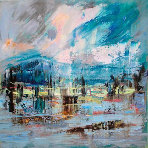Ernest Hiltenbrand, La saison décline, Landscapes: Sea/Ocean, Symbol, Modern Times, Abstract Expressionism