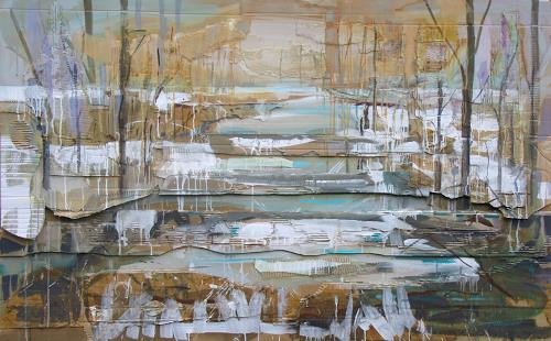 Ernest Hiltenbrand, La débâcle, Landscapes: Winter, Modern Times, Abstract Expressionism