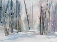 E. Hiltenbrand, Wald im Schnee