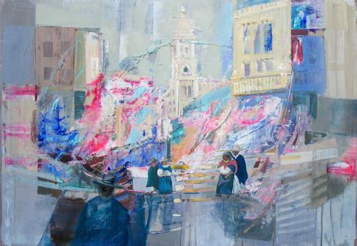 Ernest Hiltenbrand, Impressions Otavaleño, People, Miscellaneous Buildings, Abstract Art