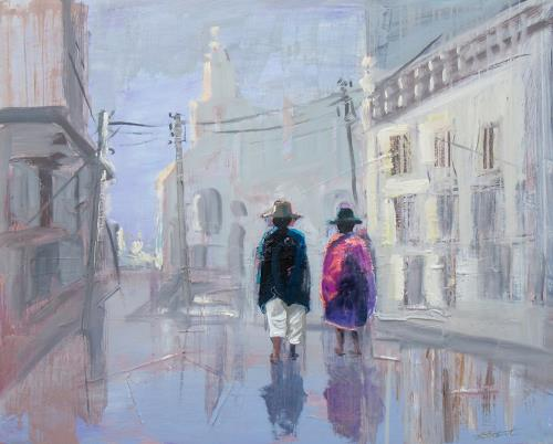 Ernest Hiltenbrand, Otavalo Curiñan, People: Couples, People: Group, Realism, Expressionism
