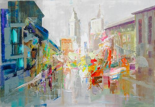 Ernest Hiltenbrand, Sound of Colors, Buildings: Churches, Abstract art, Expressive Realism, Abstract Expressionism