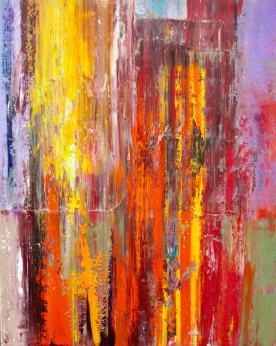 Ernest Hiltenbrand, Feuer und Flamme, Abstract art, Miscellaneous Landscapes, Neo-Impressionism, Abstract Expressionism