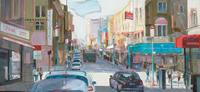 Ernest-Hiltenbrand-Miscellaneous-People-Traffic-Car-Modern-Age-Impressionism-Neo-Impressionism