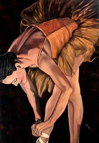 Anka Hubrich, Ballerina vor Auftritt, Movement, Expressionism
