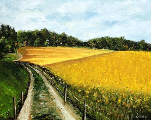 Anka Hubrich, Rapsfeld, Landscapes: Summer, Expressionism