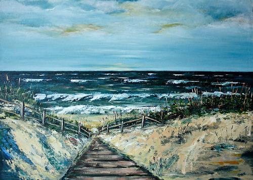 Anka Hubrich, Dünenaufgang, Landscapes: Beaches